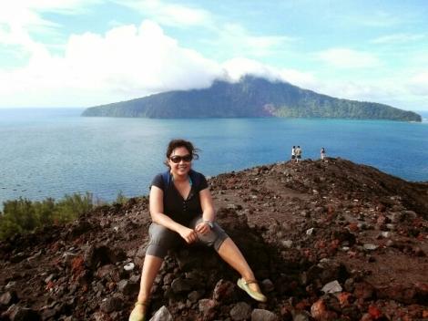 Nadja di Gunung Krakatau, Ujung Kulon - Lampung