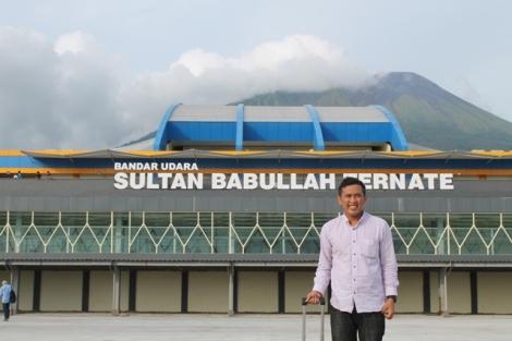Saya sedang foto narsis di Airport Sultan Babullah Ternate