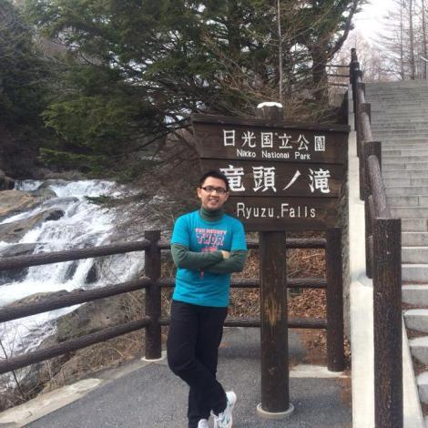 Ivan Berpose di Ryuzu Falls, Tochigi Prefecture