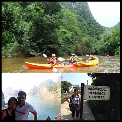 Niken: Foto Kayaking di Kuching, Malaysia; Halong Bay, Vietnam; Bentota, Sri Lanka