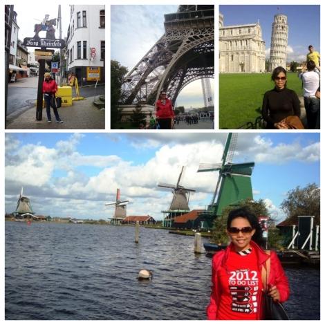 Niken Sedang travelling di beberapa negara di Eropa barat