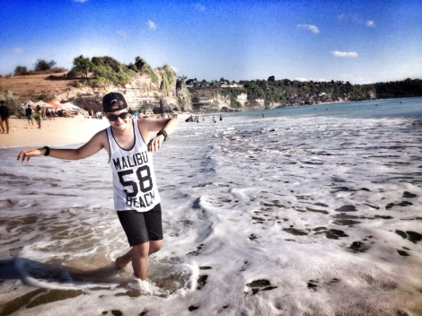 Angga di Dreamland Beach Bali