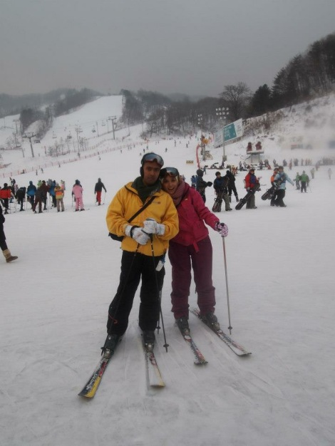 Ski-ing at Pyeongchang-gun, South Korea