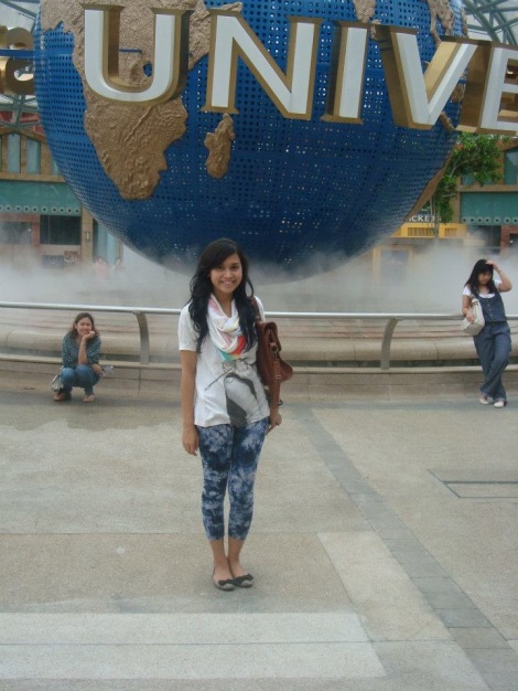 Cindy di Universal Studios Singapore
