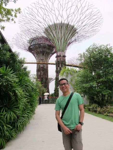 Robby Antony di Garden by the Bay - Singapore