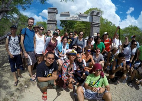 Dyen With Group at Komodo Island