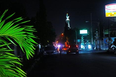 Salah satu sudut kota Cirebon dilihat di waktu malam hari