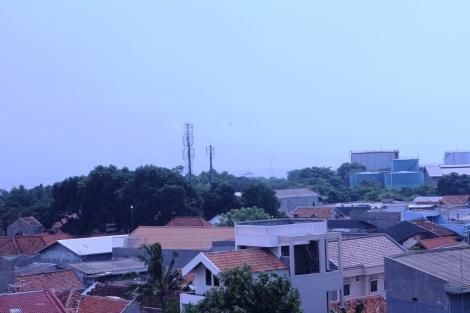 Salah satu sudut kota Cirebon dilihat dari ketinggian