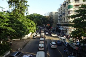 Traffic in Yangoon